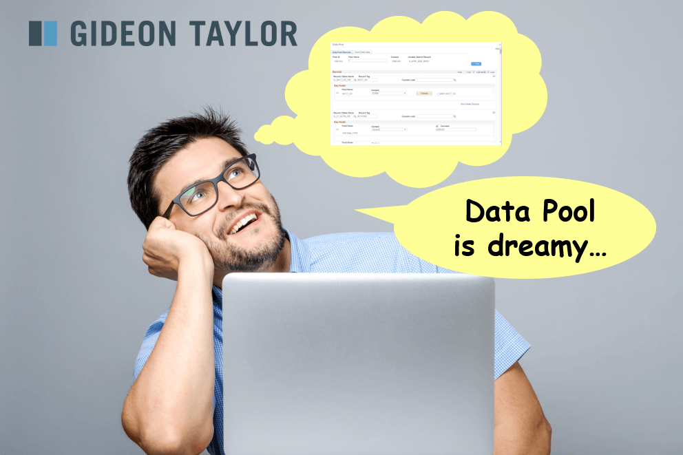 Man day dreaming about data pool